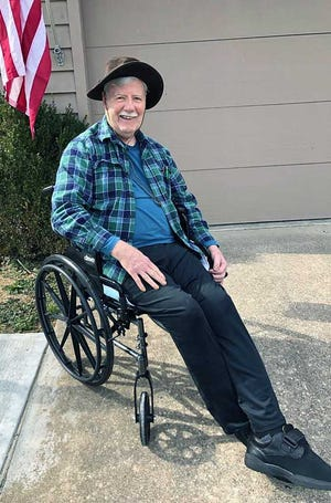 Fairfield Food Pantry founder Howard Dirksen suffered a stroke 15 months ago but he's still going to participate in Saturday's 5K race fundraiser for the pantry. Two friends are going to push him in his wheelchair along the course.