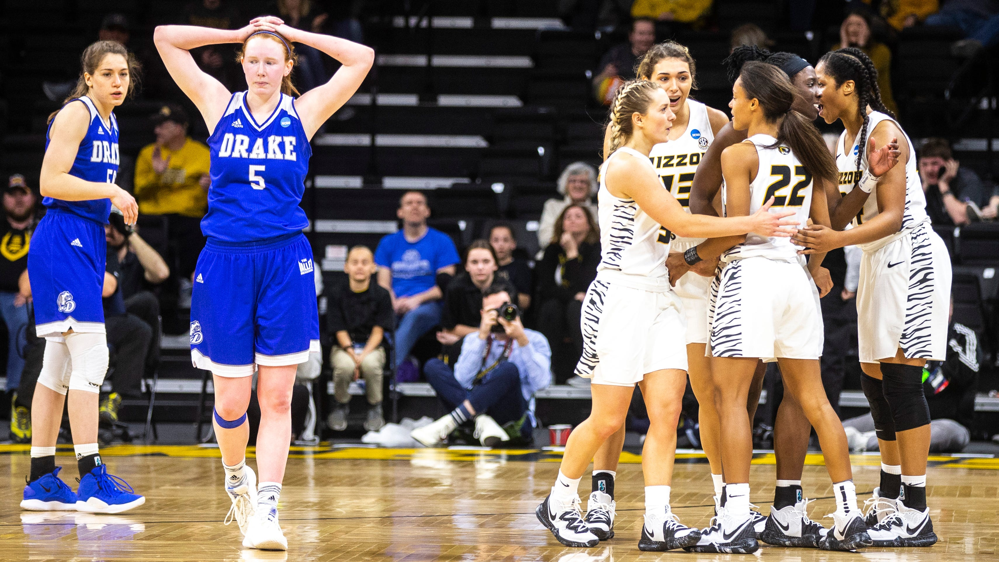 'This one really hurts': Drake falls just short against Missouri in NCAA Tournament opener