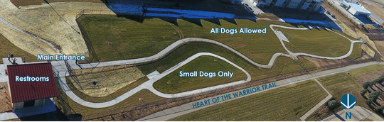 Trailside Dog Park is located at 590 S.E. Brick Drive in Waukee, about midway between Hickman Road and University Avenue.