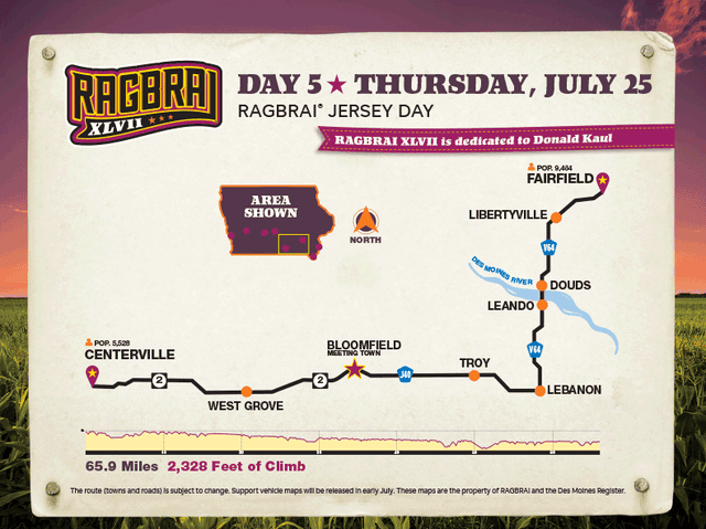RAGBRAI 2019: Here are all the pass-through towns