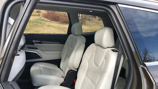 The Kia Telluride's rear seat has unusual safety features.
