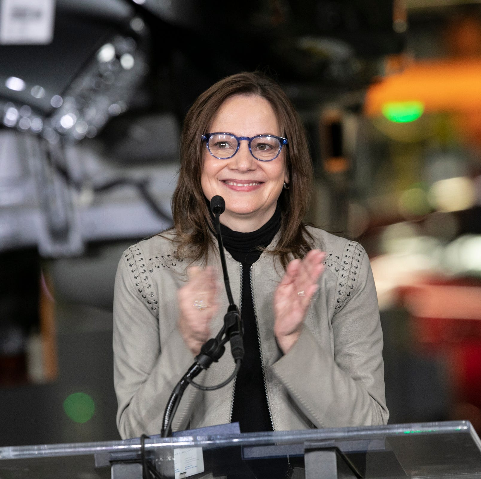 GM CEO Mary Barra's compensation was $21.87 million in 2018, 281 times median GM worker