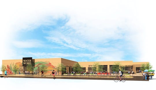 This rendering is part of George Jackson's proposed Riopelle Market project, which would turn a long vacant 117,000-square-foot  warehouse at 3500 Riopelle on the northern end Eastern Market into a food emporium with a food accelerator for chef entrepreneurs to test concepts, commercial space and other dining options.