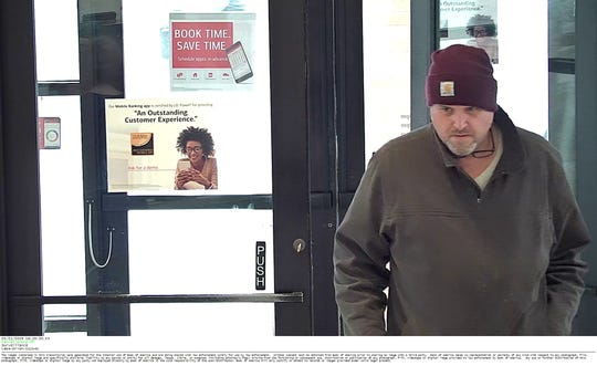 Suspect in robbery at Bank of America in Orion Township on March 21, 2019.