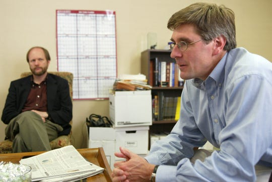Club for Growth President Stephen Moore is seen in this Friday, April 30, 2004, file photo in Washington. President Trump said Friday that he will nominate Moore, a conservative economic analyst and frequent critic of the Federal Reserve, to fill a vacancy on the Fed's seven-member board.