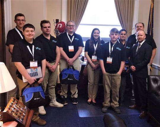 Teens from the Schuyler County Coalition on Underage Drinking and Drugs (SCCUDD) stop in U.S. Rep. Tom Reed's office during a recent visit to Washington, D.C.