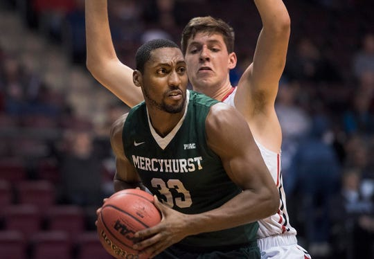 Patrick Smith is a force inside for Mercyhurst. He averages 9.3 points and 9.5 rebounds per game for the Lakers.
