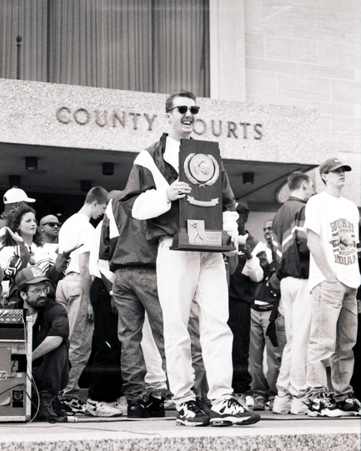 Brian Huebner at the 1995 celebration downtown.