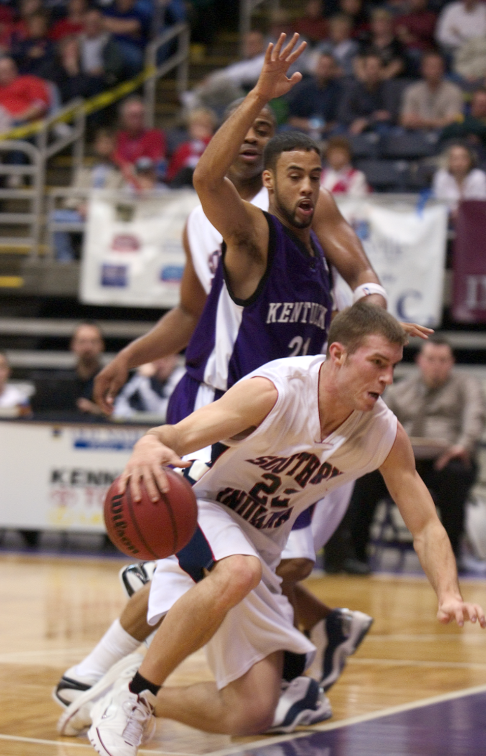 Cris Brunson dribbles during a 2004 game against Kentucky Wesleyan.