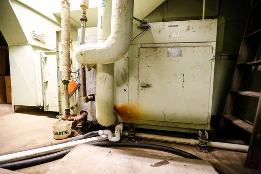 An air handling unit shows its age at Chegwin Elementary School, Thursday, March 21, 2019, Fond du Lac, Wis. A $98.5 million referendum will be on the April 2 ballot to address district-wide needs in the city's public schools. Doug Raflik/USA TODAY NETWORK-Wisconsin