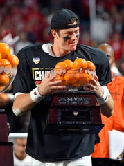 Quarterback Alex Hornibrook was named the 2017 Orange Bowl MVP after leading Wisconsin to a win over Miami.