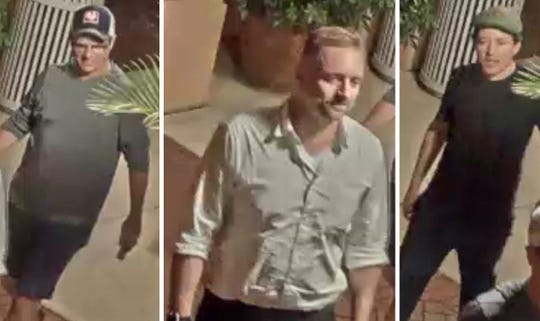 """Here are the three men that The Fort Myers Police Department say are involved in the """"vandalism"""" against the Robert E. Lee statue in Lee County."""