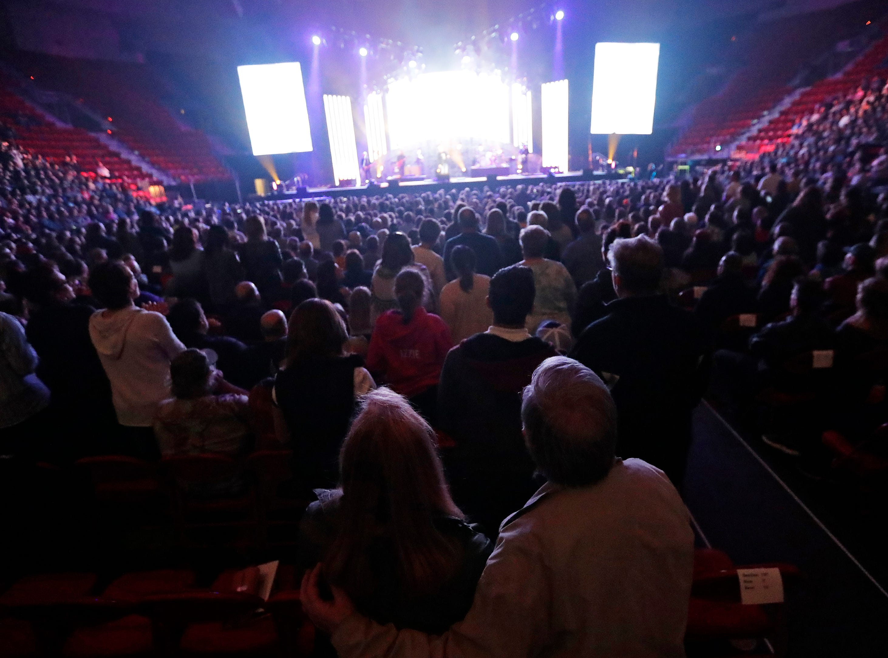 MercyMe performs at the Resch Center on Thursday, March 21, 2019 in Ashwaubenon, Wis.
