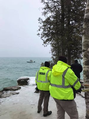 The Door County Sheriff's Department worked with other groups Wednesday, March 20, to recover a body from Lake Michigan off Cave Pointy County Park. The body was identified Friday as Eric Richter, 57, of Neenah.