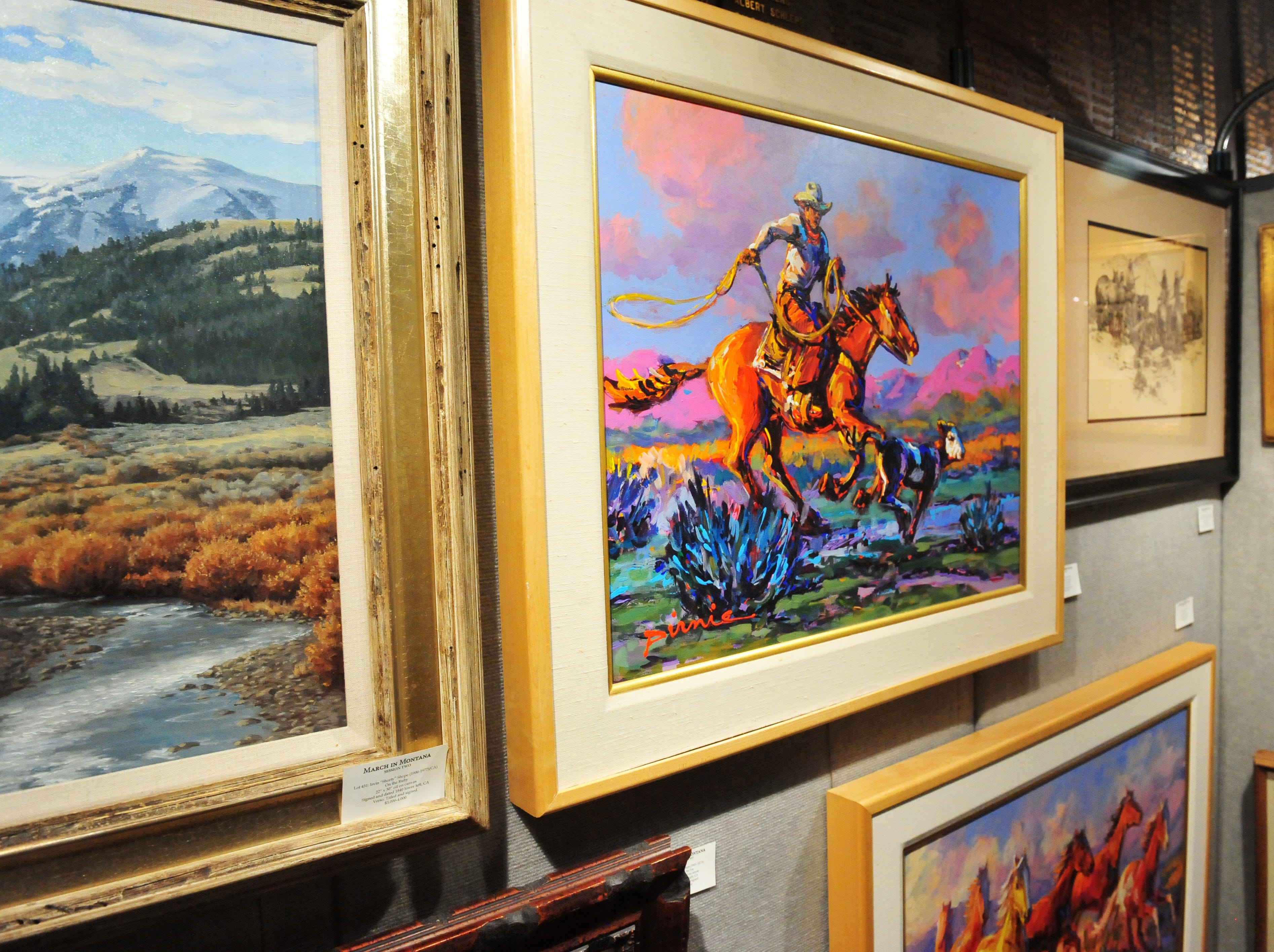 The March in Montana Art Show at the Elks Lodge, Thursday.