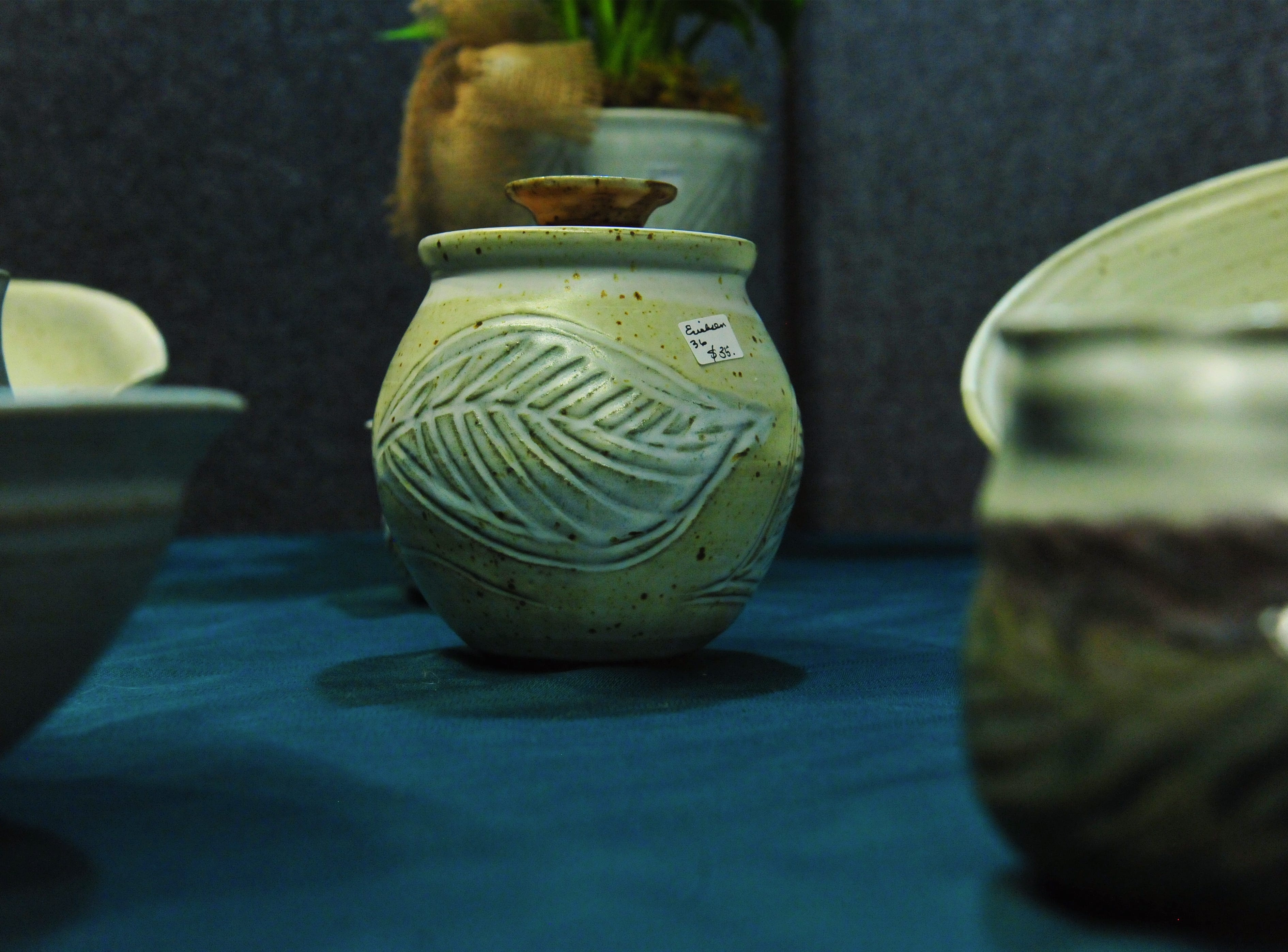 Pottery by Judy Erickson at the Missouri Falls Fine Art Show at the History Museum, Thursday.
