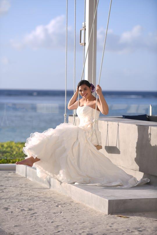 Mariana Kier in gown from Arluis Wedding.