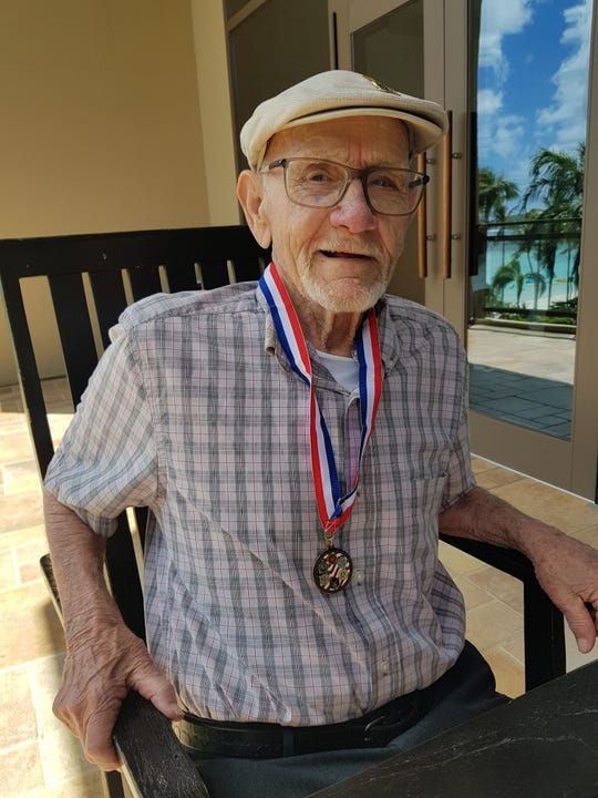 95-year-old Robert Clemons was a Marine Corps corporal on Guam during World War II.