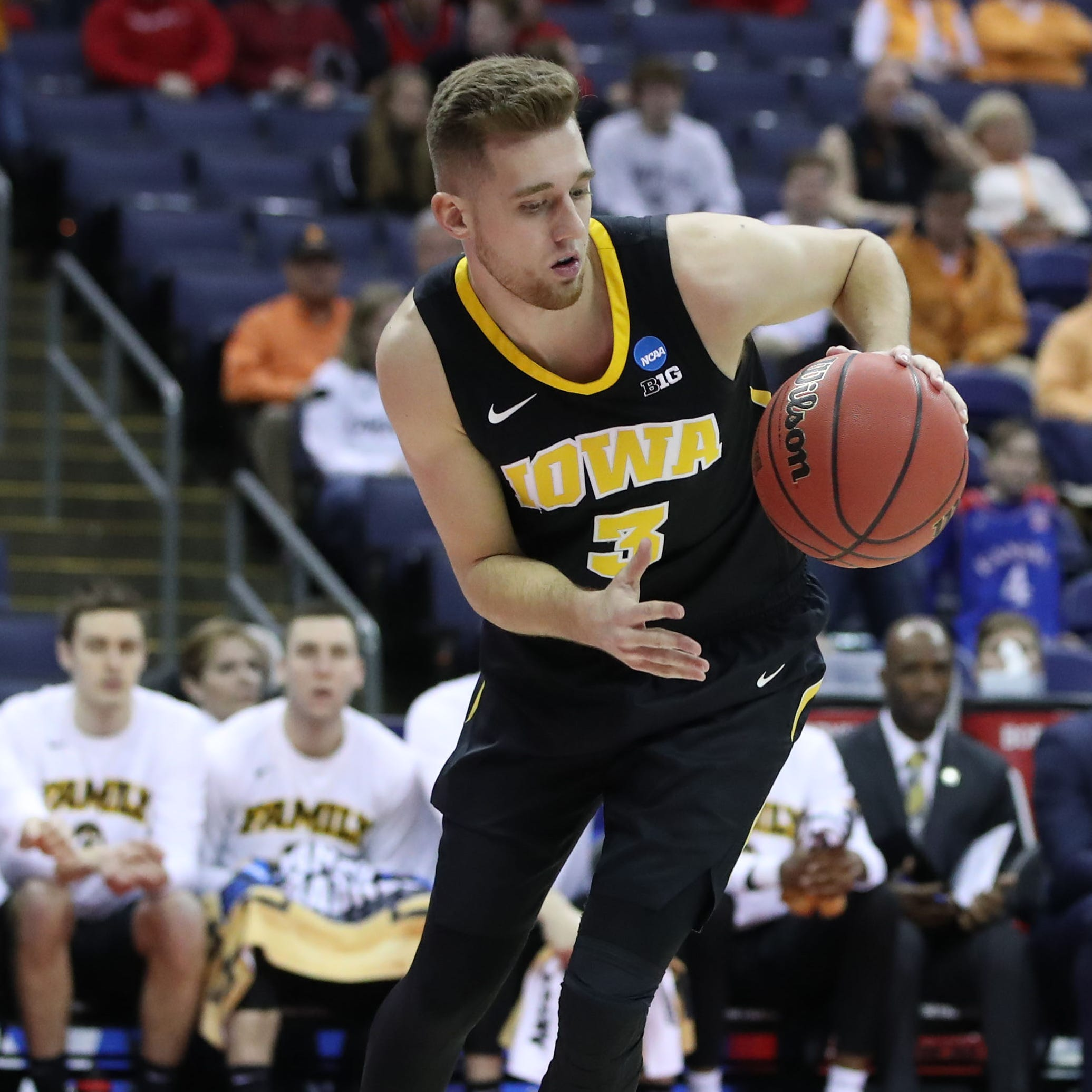 The one, meaningful word Iowa's Jordan Bohannon writes on his basketball shoes