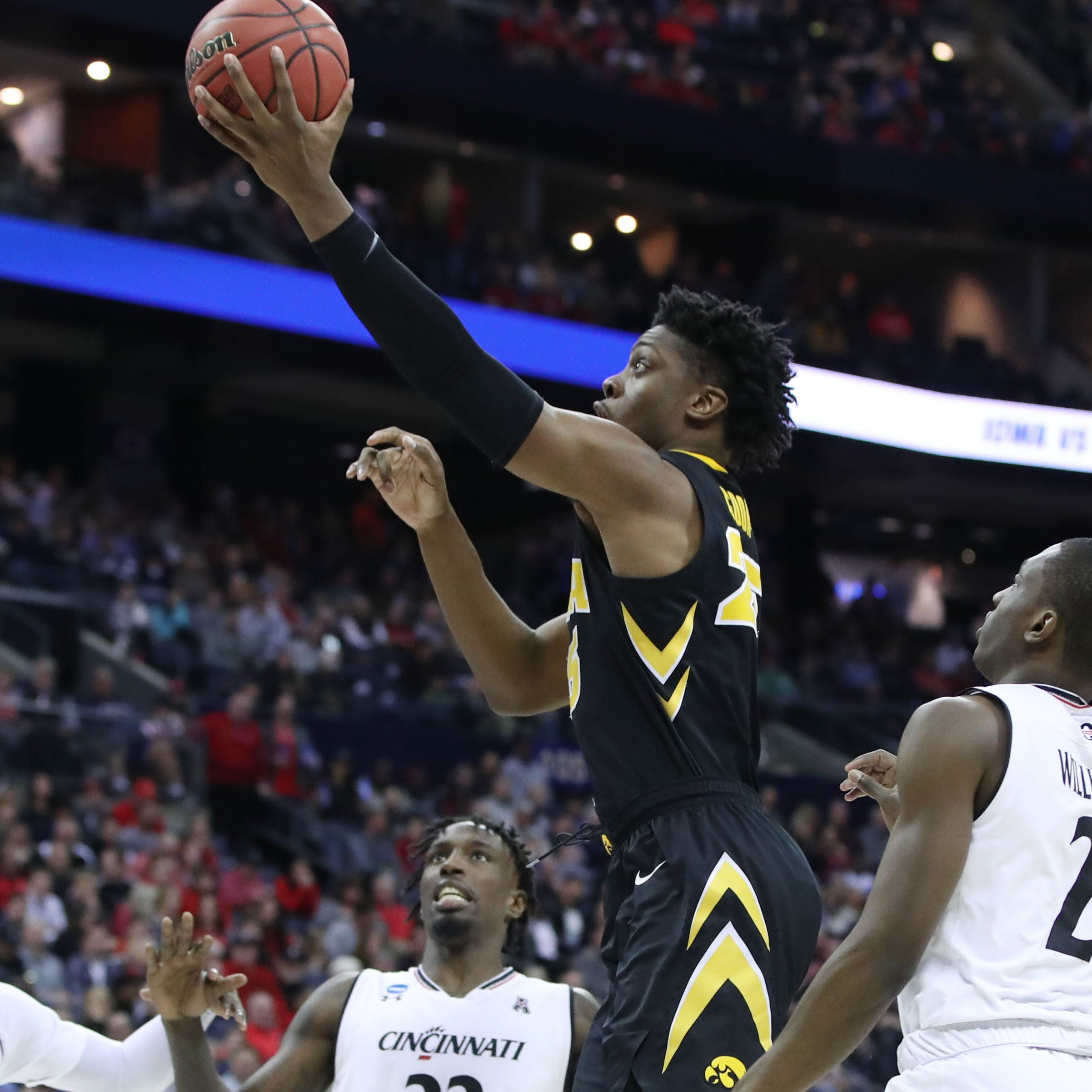 Iowa's Tyler Cook looks to shake off missed layups; Connor McCaffery feeling better