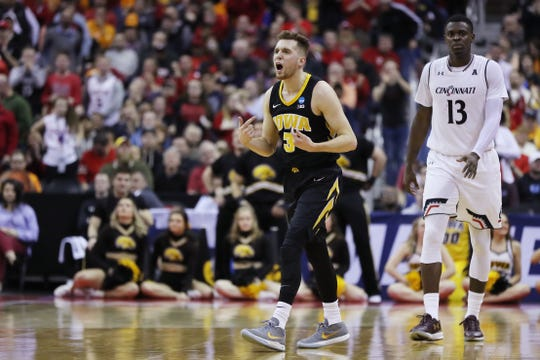 Jordan Bohannon experienced his first NCAA Tournament win in March against Cincinnati. He hopes that more are ahead as he prepares to wait for a fifth-year senior season.
