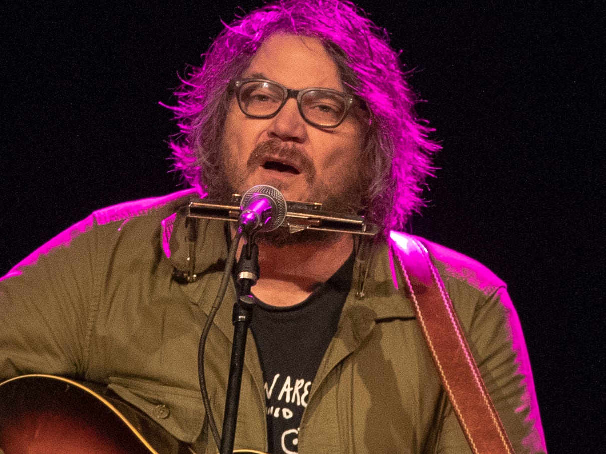 Jeff Tweedy, frontman of the band Wilco, performs at Old National Centrel Indianapolis, Thursday, March 21, 2019.