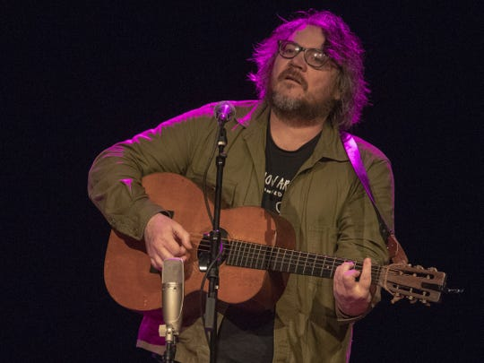 Jeff Tweedy performs Thursday at the Egyptian Room in Old National Centre.