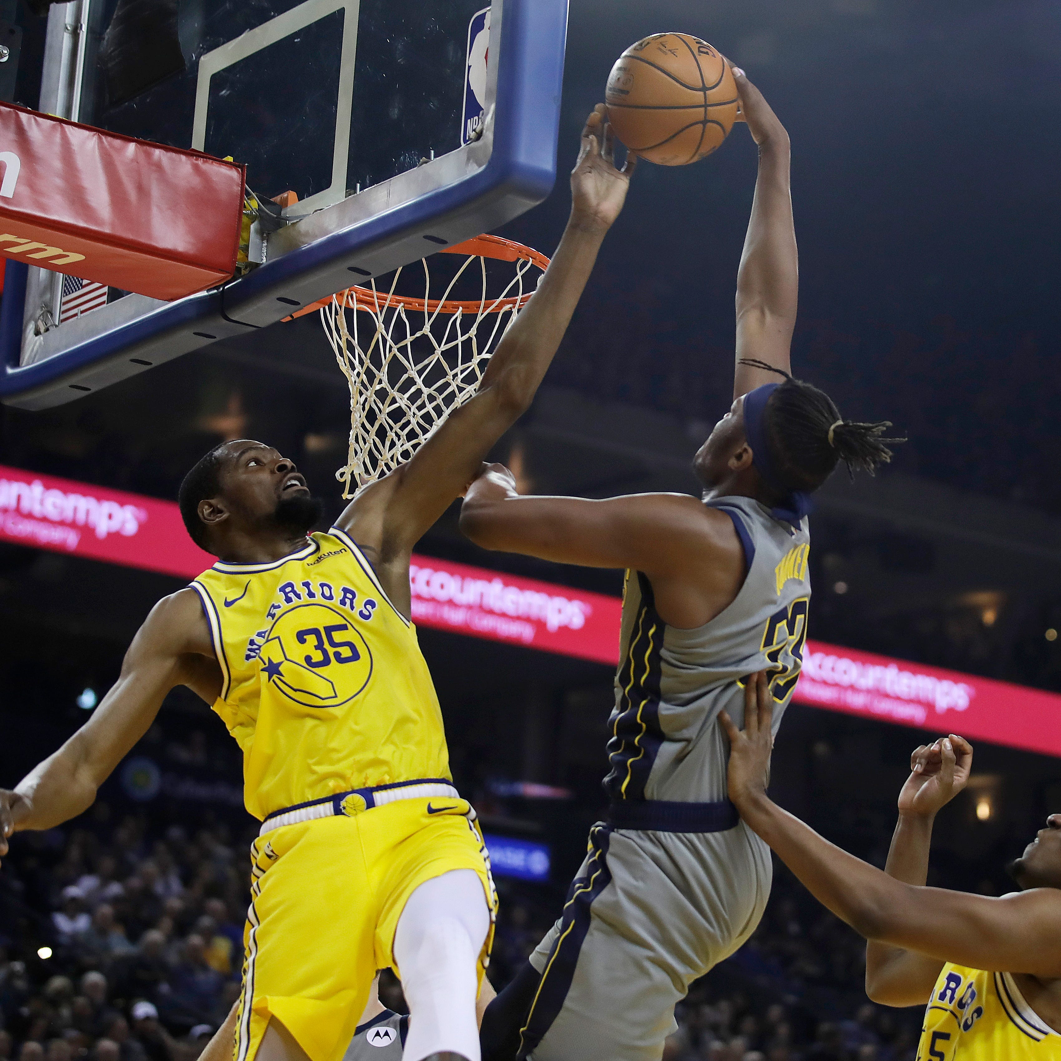 Pacers turn in offensive dud, go winless on trip with blowout loss to Warriors