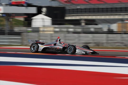 Team Penske's Will Power turned the fastest lap during IndyCar's debut Friday at Circuit of the Americas.