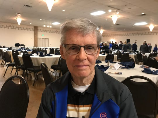 George Gerth, 84, has kept statistics for Silver Creek basketball for 61 years.