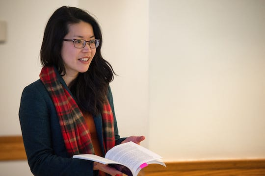 Adrienne Rose teaches Translation and Global Society class in Schaeffer Hall
