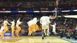 Tennessee's pregame dunk before taking on Colgate in the first round of the NCAA tournament Friday, March 22.