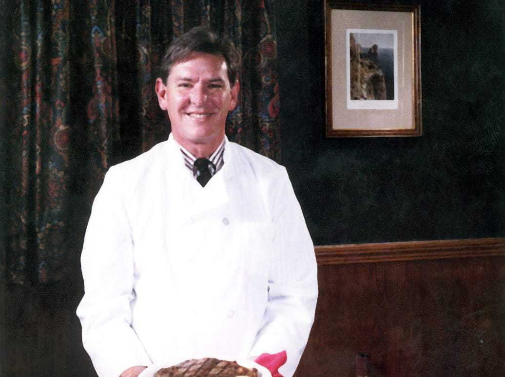 Bob Luper in a 1995 photo at Naples Restaurant.