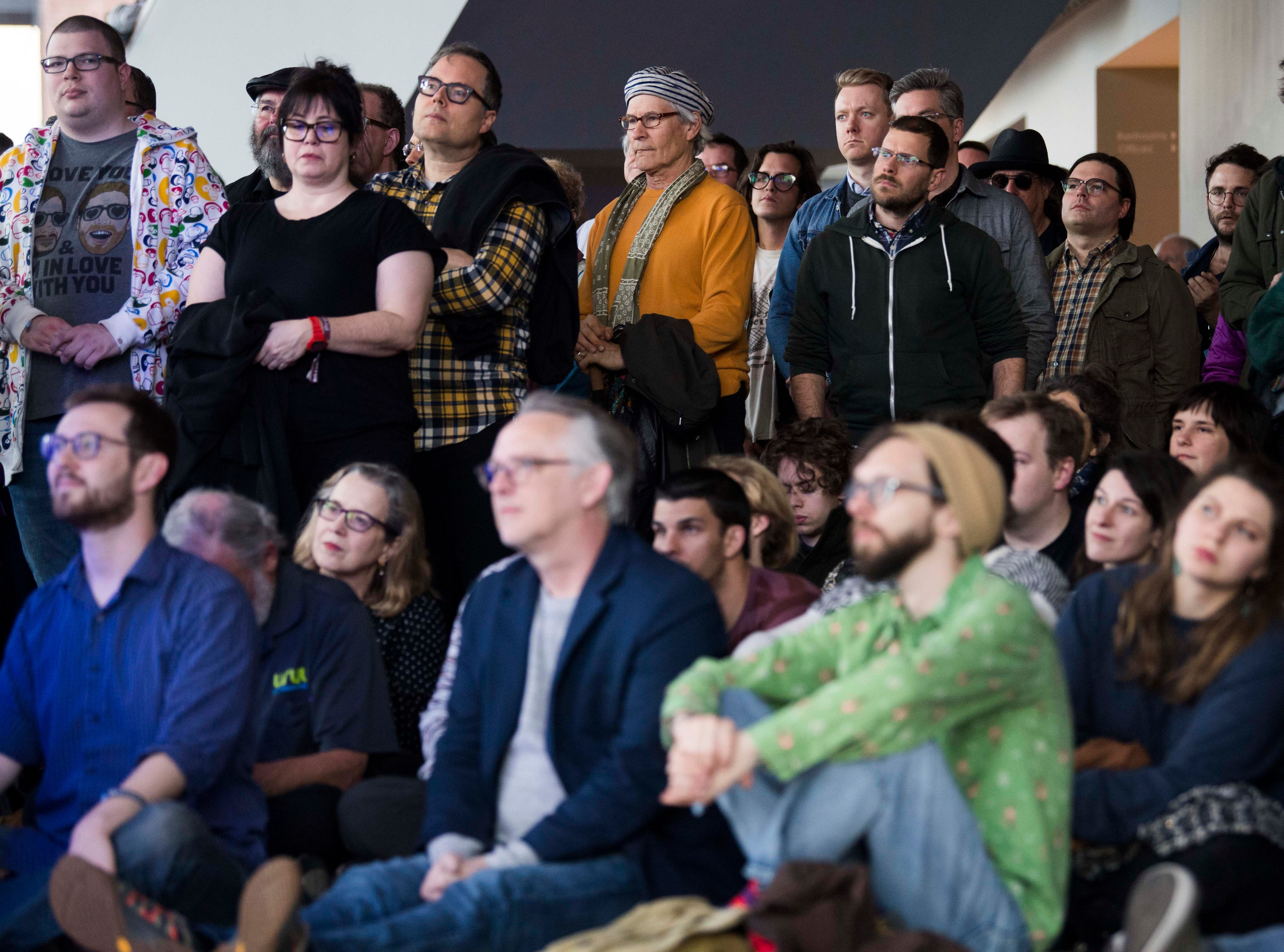Roomful of Teeth perform in the Knoxville Museum of Art as Big Ears Festival attendees listen, in Knoxville Thursday, March 21, 2019.