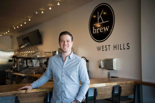 """We were just determined to be in this neighborhood,"" K Brew co-owner Pierce LaMacchia said about the coffee shop's new West Hills location on Kingston Pike."