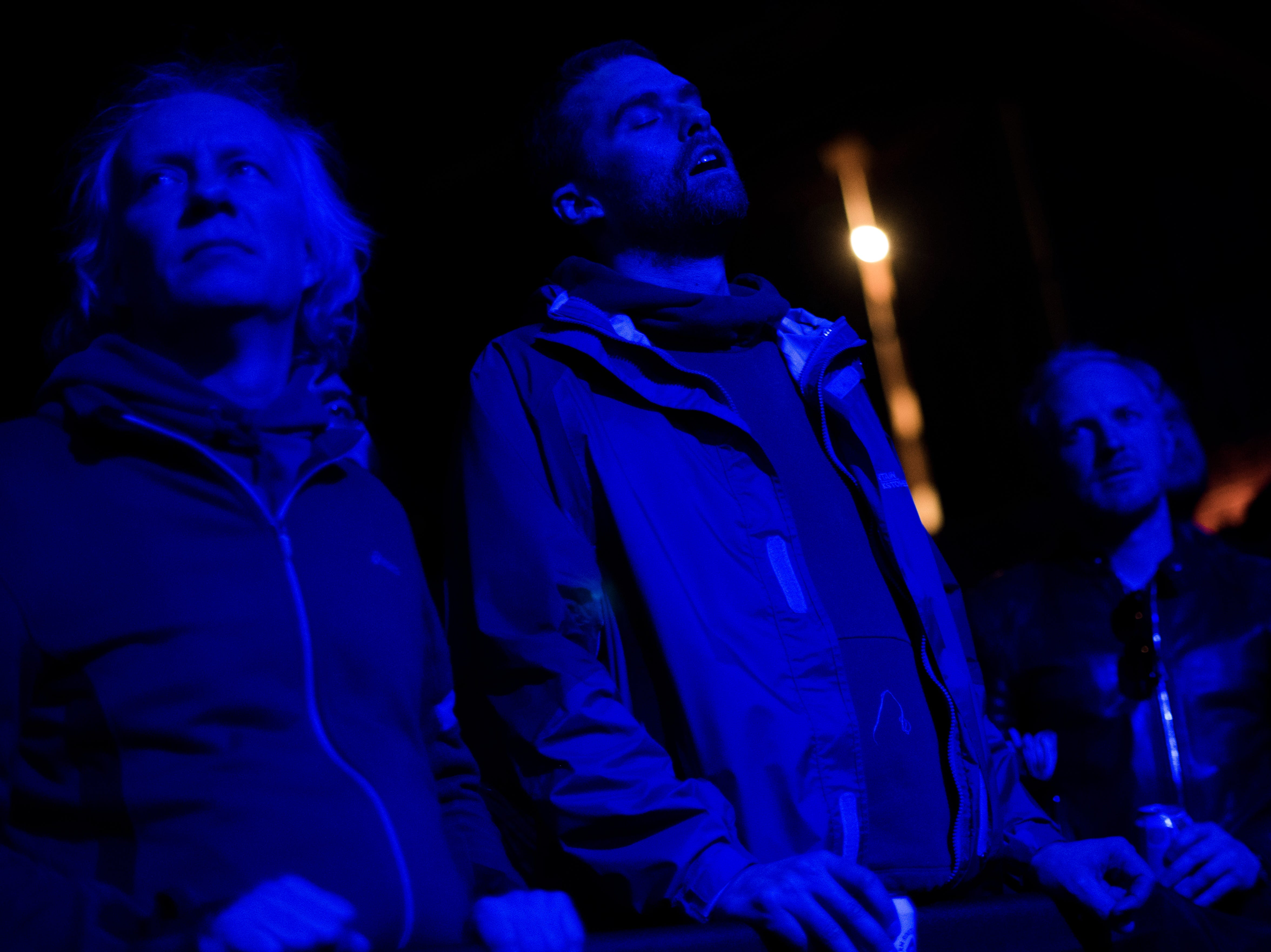 Fans listen as Kukangendai performs at the Mill & Mine during Big Ears Festival 2019 in Knoxville, Tennessee on Thursday, March 21, 2019.