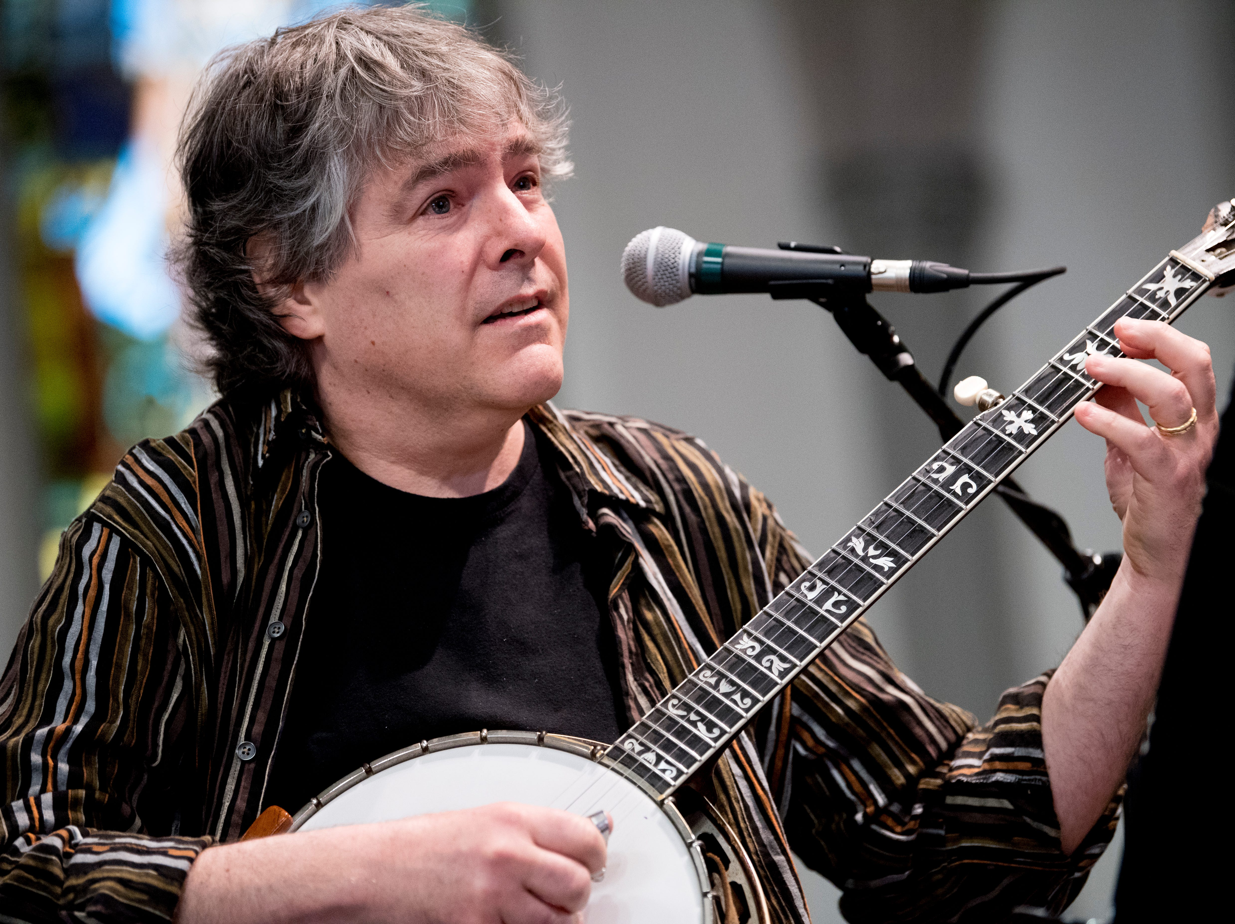 Bela Fleck & Edmar Castaneda perform at St. John's Episcopal Church during Big Ears Festival 2019 in Knoxville, Tennessee on Friday, March 22, 2019.