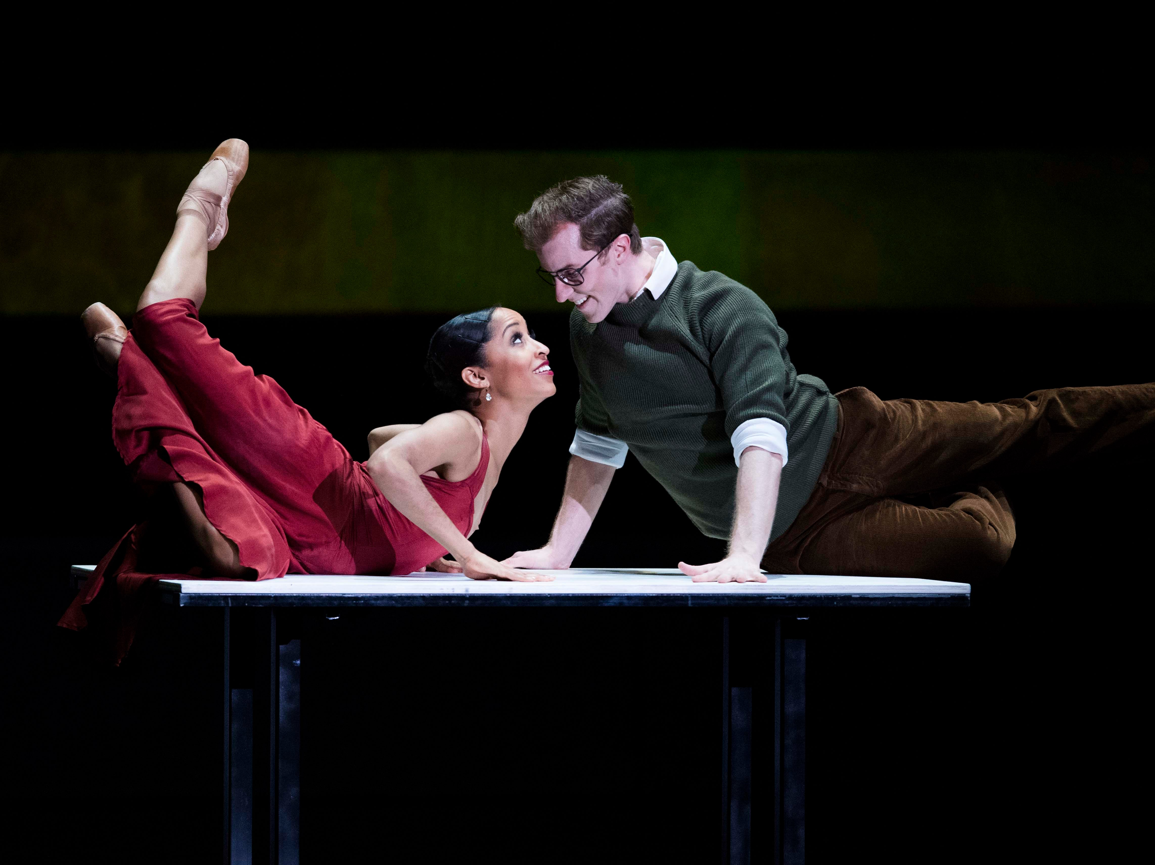 The Nashville Ballet performs Lucy Negro Redux in the Tennessee Theatre, with music by Rhiannon Giddens and Francesco Turrisi, and poetry by Caroline Randall Williams, in Knoxville Thursday, March 21, 2019.