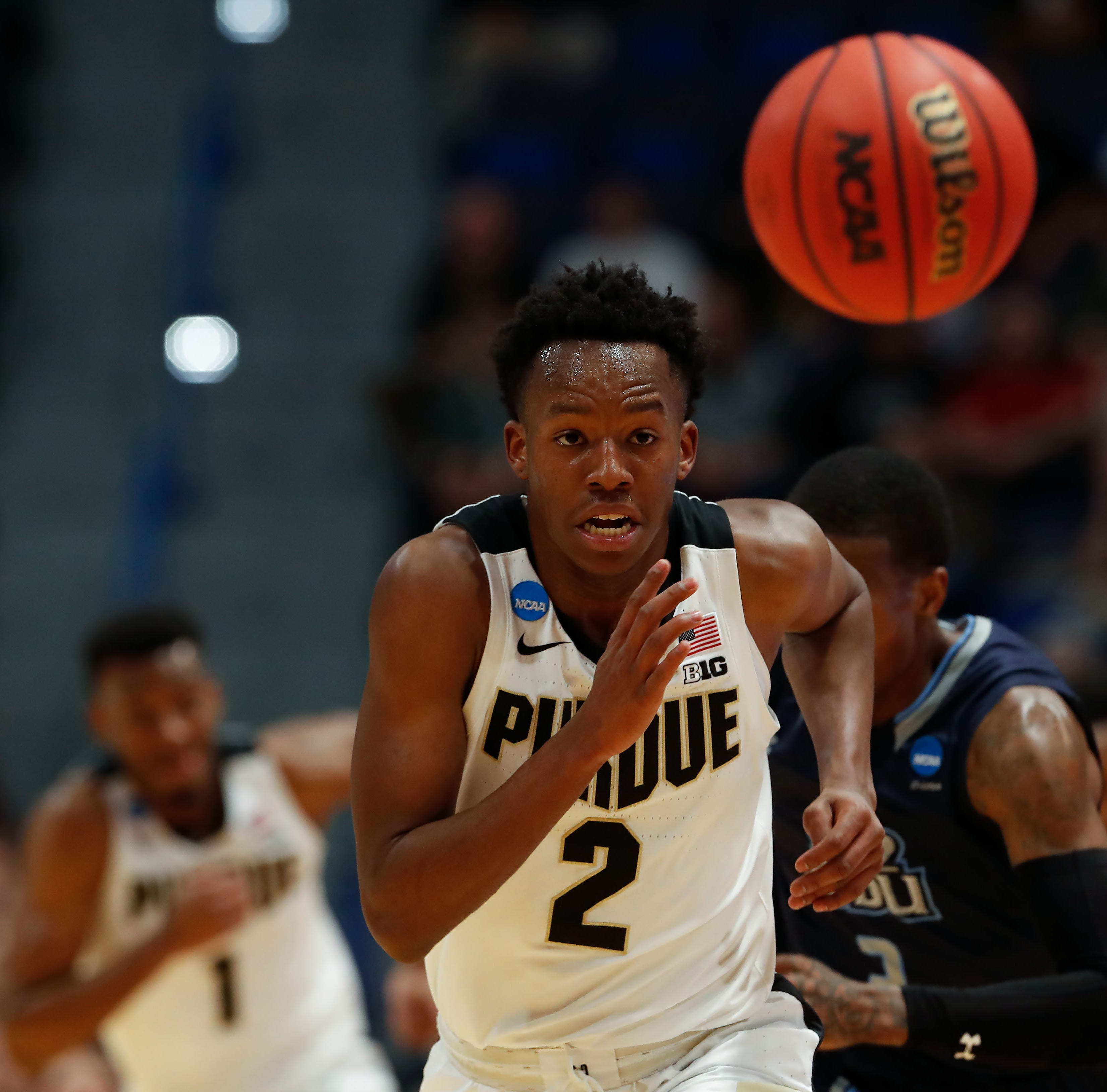 Purdue basketball freshman Eric Hunter answered unexpected call against Old Dominion