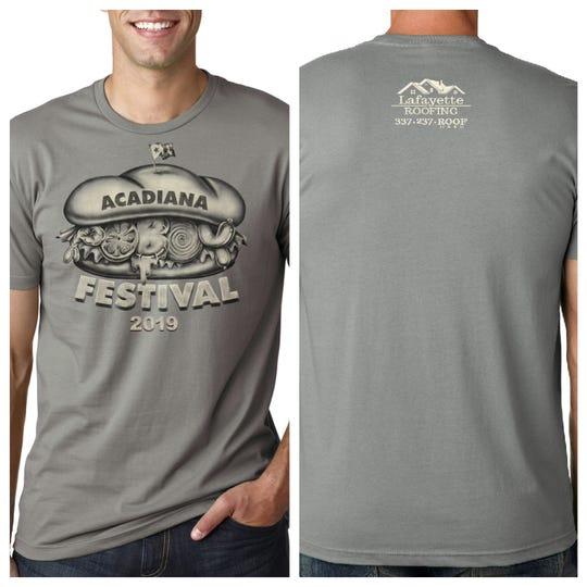 2019 Acadiana Po-Boy Festival  T-Shirt