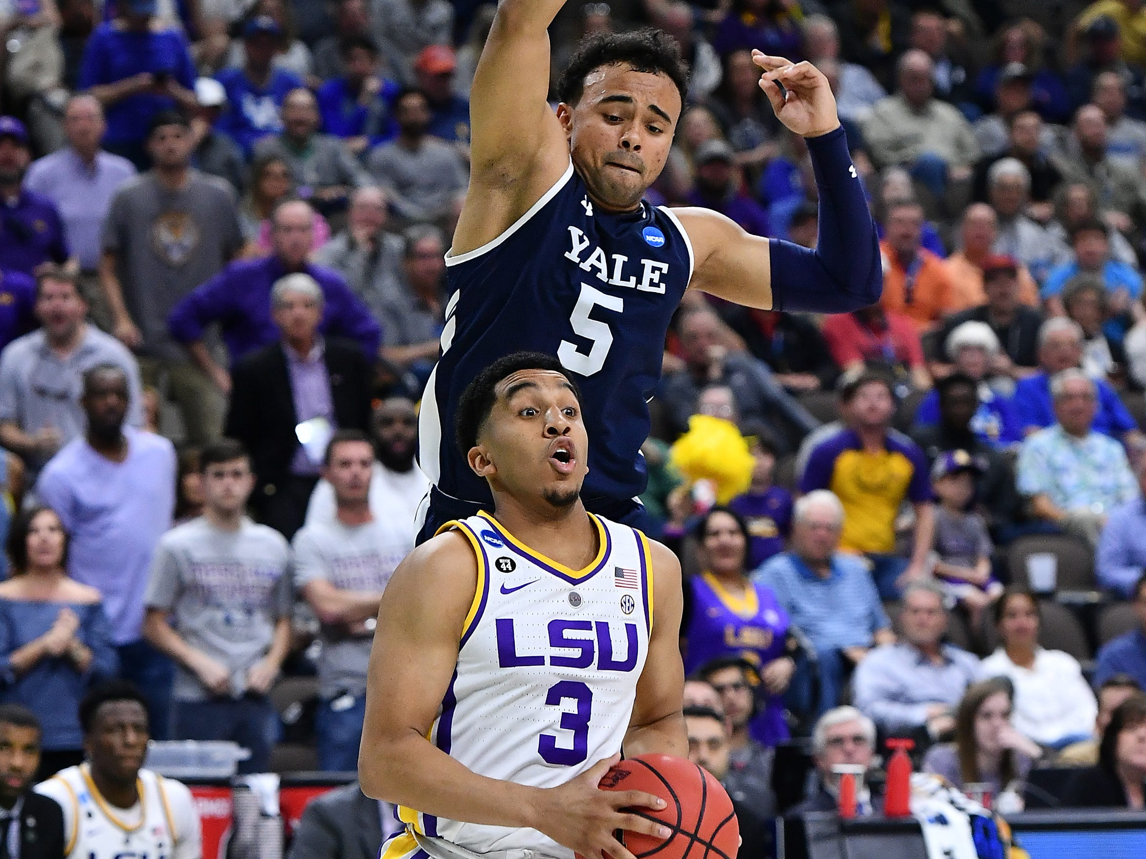LSU survives Yale, 79-74; Tigers to play Maryland at 11:10 a.m. Saturday on CBS