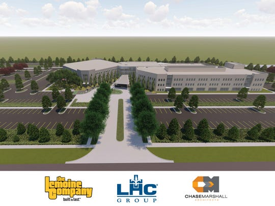 Conceptual renderings of the expansion to LHC Group headquarters in Lafayette.