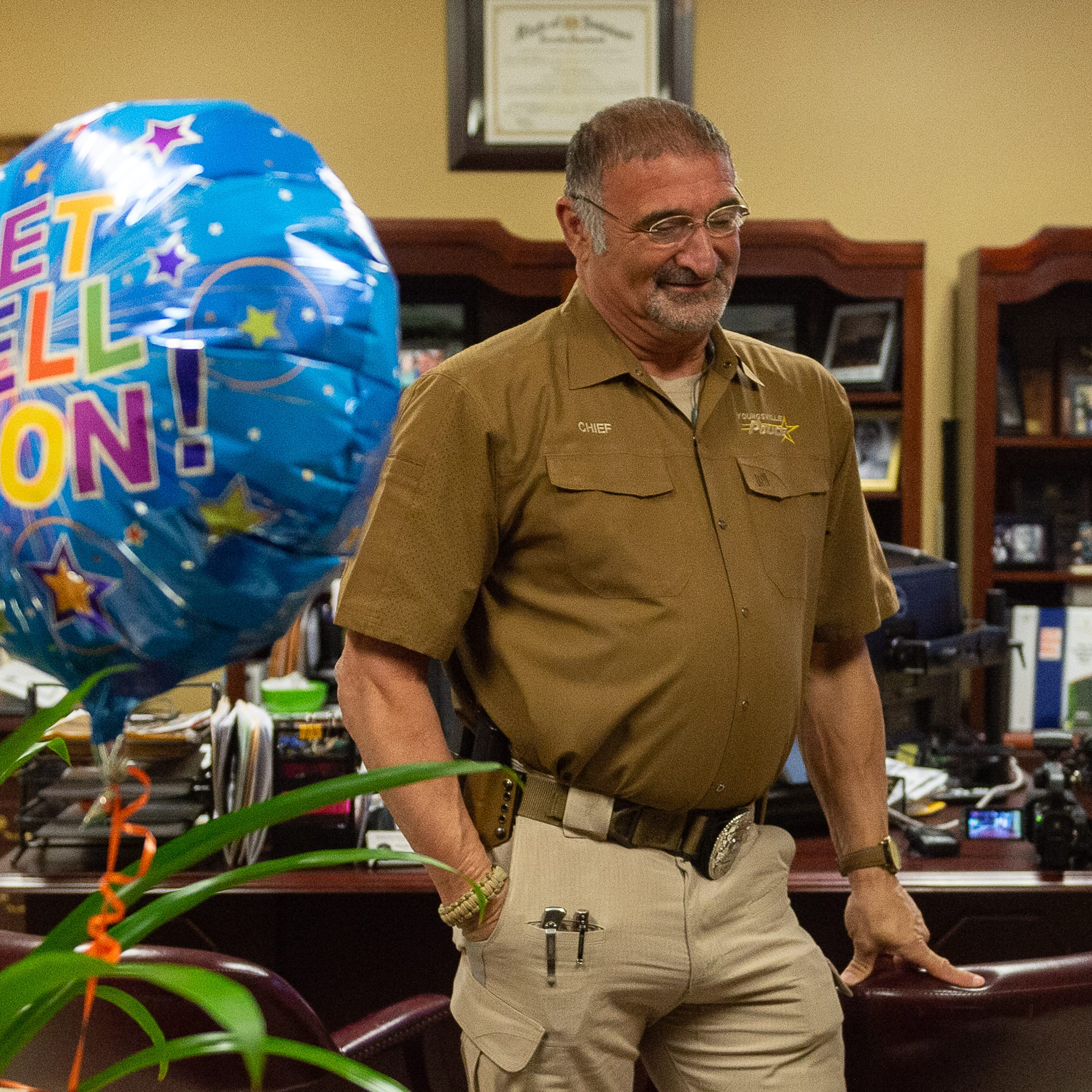 'I love this job': Youngsville police chief on the mend after motorcycle crash