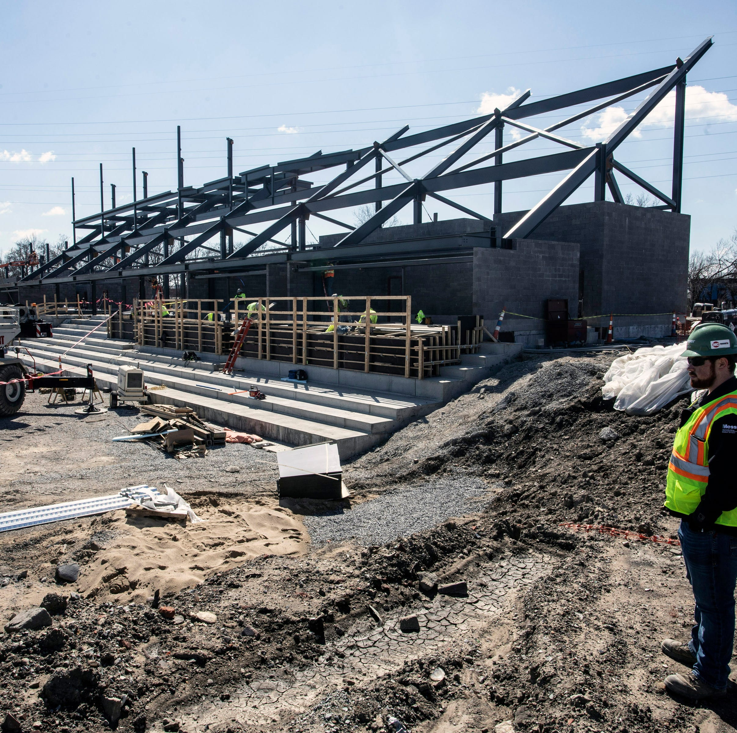 Take a tour of the LouCity soccer stadium construction in Butchertown