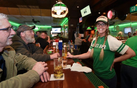 Natalie Steward, the new owner of Abie's Bar in downtown Eaton Rapids.  The property at 100 S. Main Street has been home to a local watering hole since 1887, longer than any other building in Eaton County.