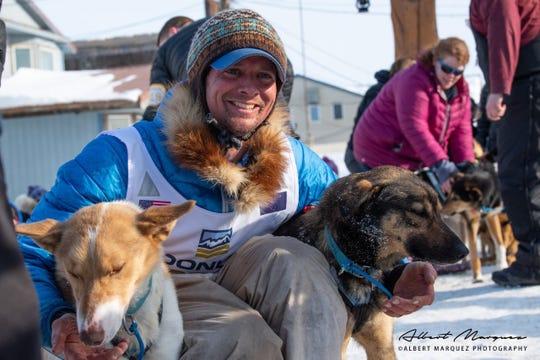 Matthew Failor at the 2019 Iditarod.