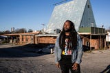 Jamond Bullock, a Memphis muralist, is working to transform Frayser's abandoned Whataburger.