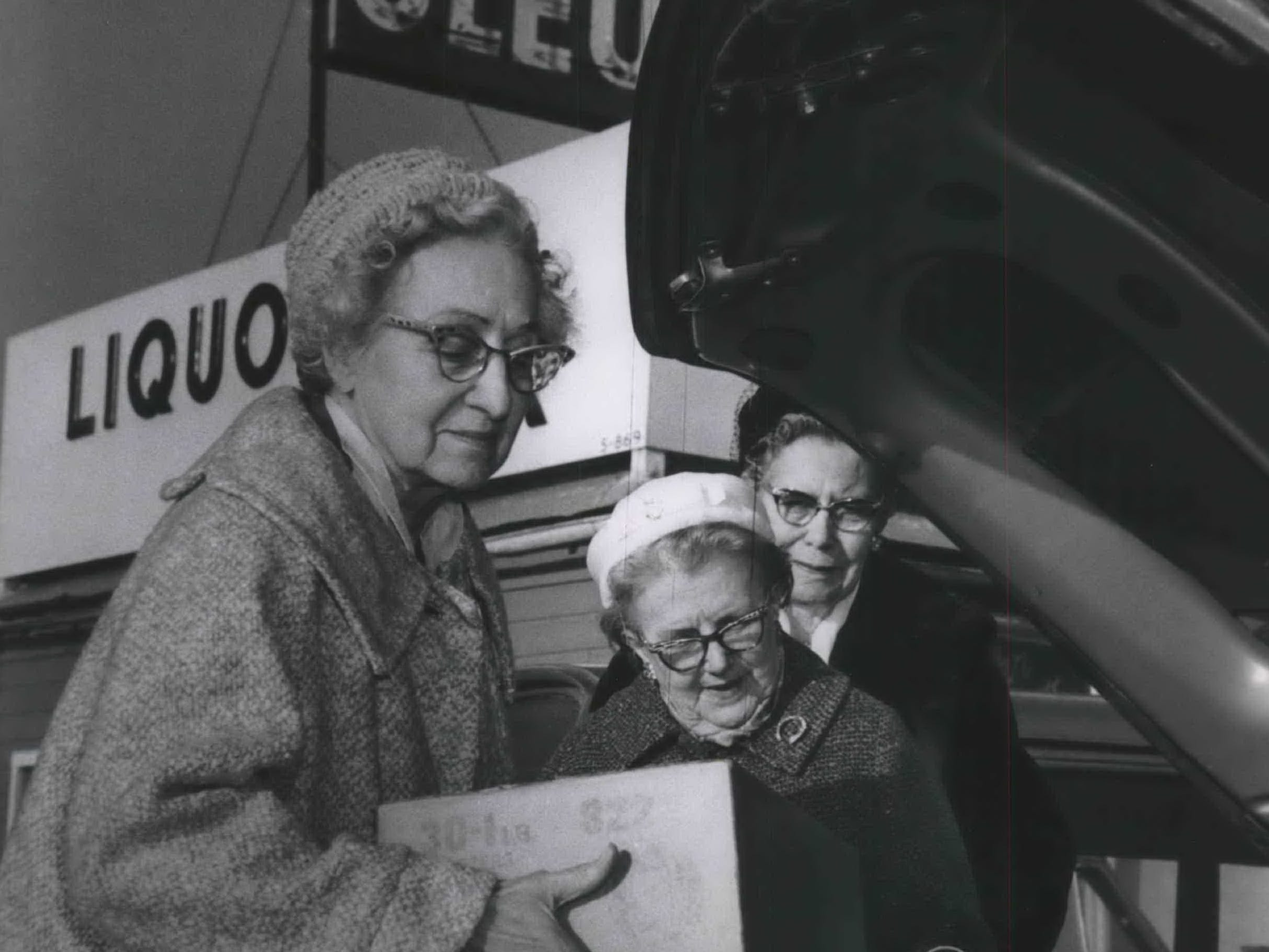 1967: The Dairy lobby fought the introduction of oleo, or margarine, since the late 1800s. Among the methods used by states included banning it outright, banning the use of yellow food coloring, forcing oleo manufacturers to use an unappealing pink color and imposing hefty sales taxes. Wisconsin made it a crime to sell oleo, but consumers routinely crossed into neighboring states to get their fill. By 1967, Wisconsin finally was pressured to repeal the ban. However, the ban lives on today in restaurants where butter is the default and margarine is only supplied upon request. In 1964, this trio from the Wisconsin Federation of Women's Clubs loaded a car trunk with cases of oleo outside an Illinois supermarket near the state border.