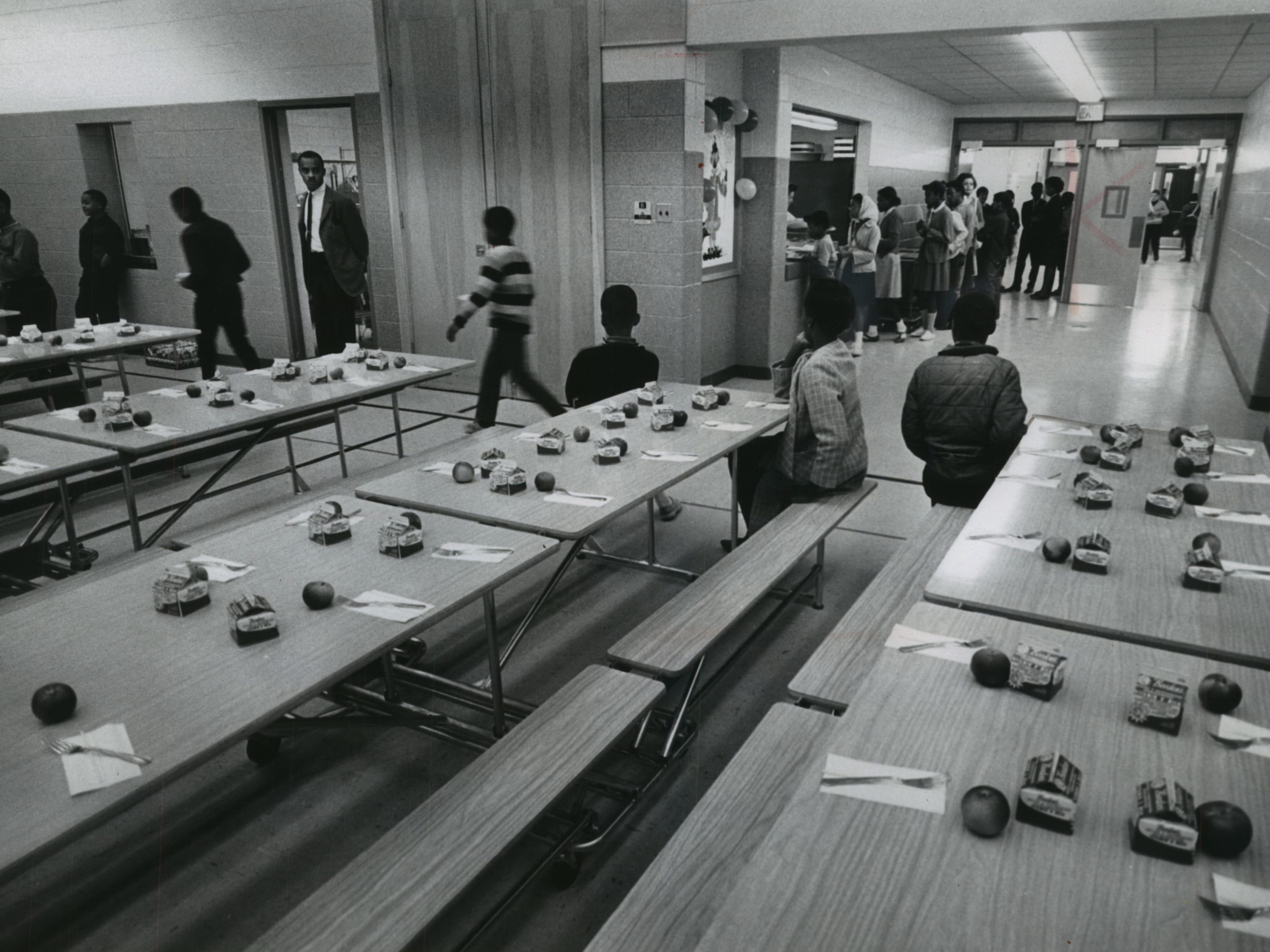1968: Milk cartons are neatly laid out on tables as pupils start moving through the lunch line at Holmes Elementary School, 2463 N. Buffum St. But milk consumption among the U.S. population was about to change. Between 1970 and 2012, U.S. milk consumption dropped by more than 27%. And while consumption of cheese products more than doubled, it couldn't make up for milk's loss.