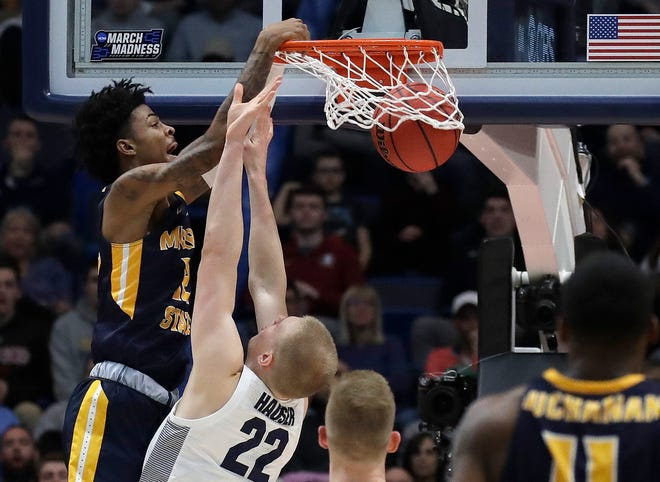 There will be no dunks this year like this one from Murray State's Ja Morant in last season's NCAA Tournament. Actually, there may be no dunks quite like this in any future tourney, but this year's marquee event was canceled because of coronavirus concerns.